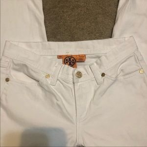 Tory Burch white flared jeans